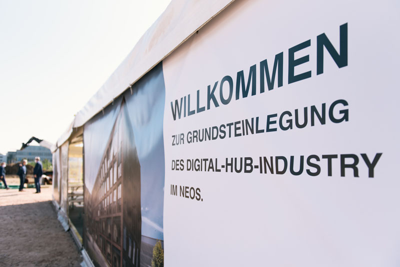 Welcome to the laying of the foundation stone of the Digital Hub Industry