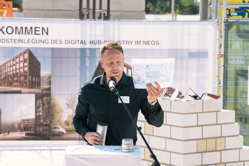 Patrick Denker, architects GMD, during his speech