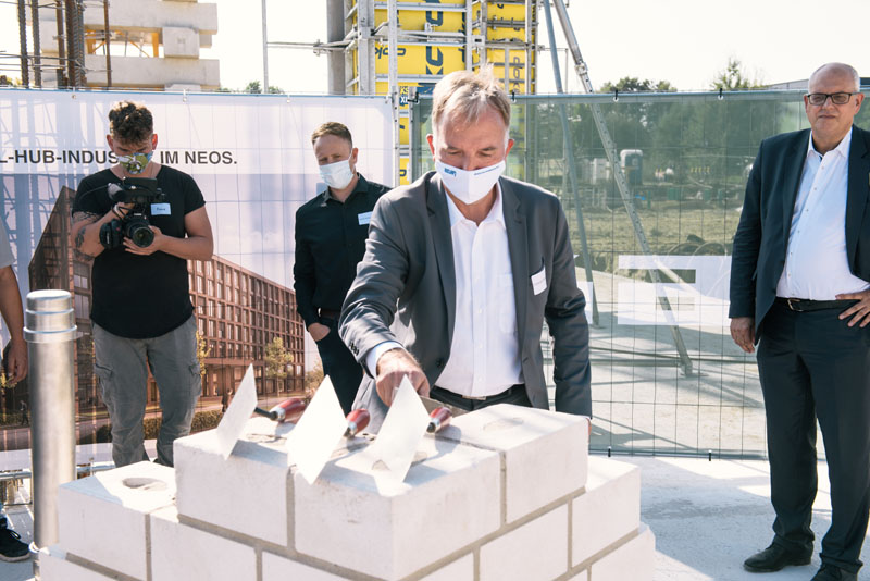 Christoph Ranze, CEO encoway, at the laying of the foundation stone